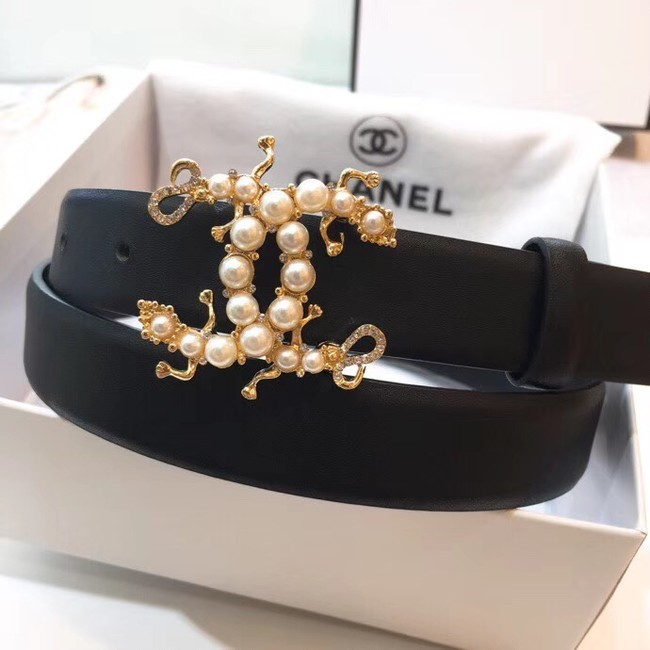 Chanel Calf Leather Belt Wide with 30mm 56597