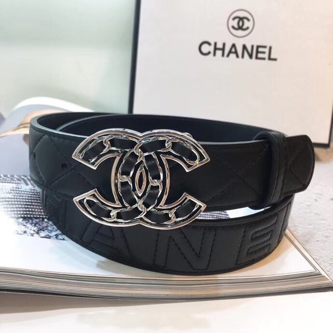 Chanel Calf Leather Belt Wide with 32mm 56609