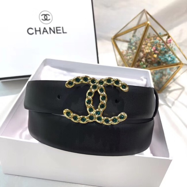 Chanel Calf Leather Belt Wide with 30mm 56613