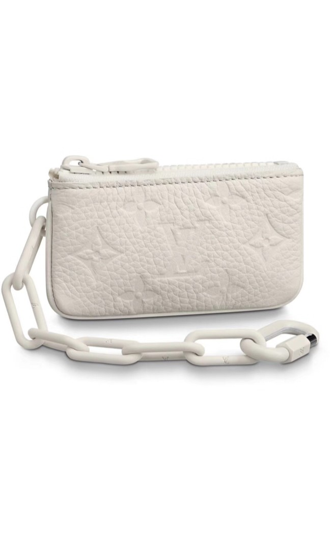 Louis vuitton Monogram Empreinte KEY POUCH M44487 white