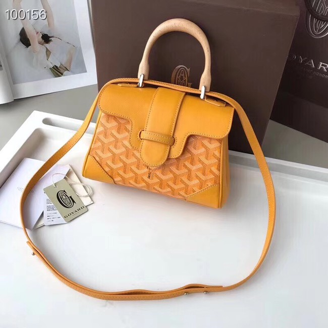 Goyard Calfskin Leather Mini Tote Bag 9955 yellow