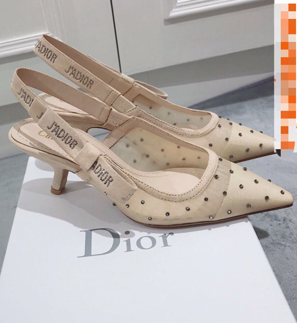 Dior Mid-heeled D80698 Shoes Apricot