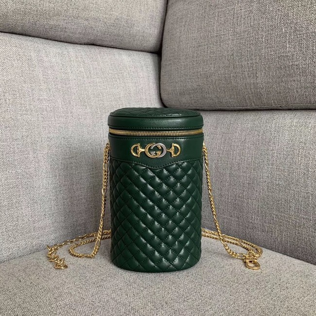 Gucci Quilted leather belt bag 572298 green