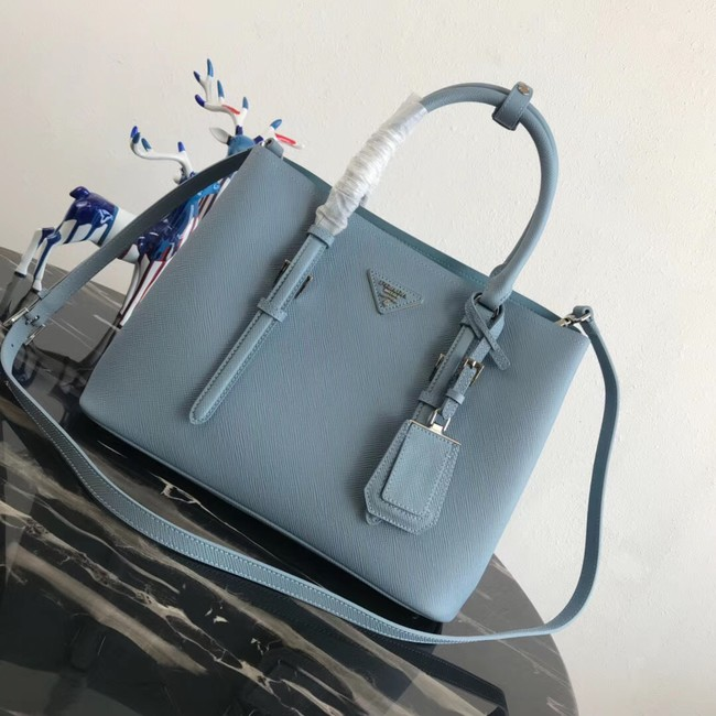 Prada Saffiano original Leather Tote Bag BN2838 sky blue