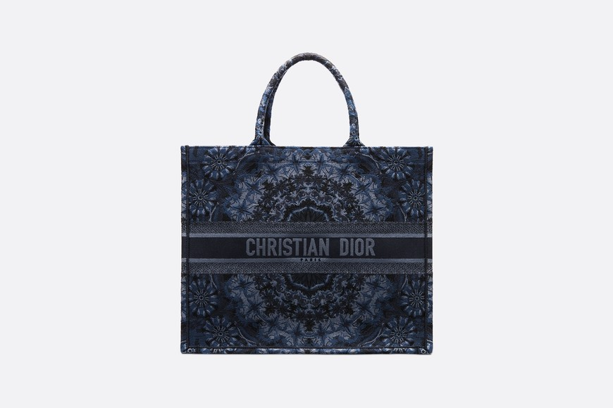 DIOR BOOK TOTE KALEIDIORSCOPIC BAG M1286ZRIO blue