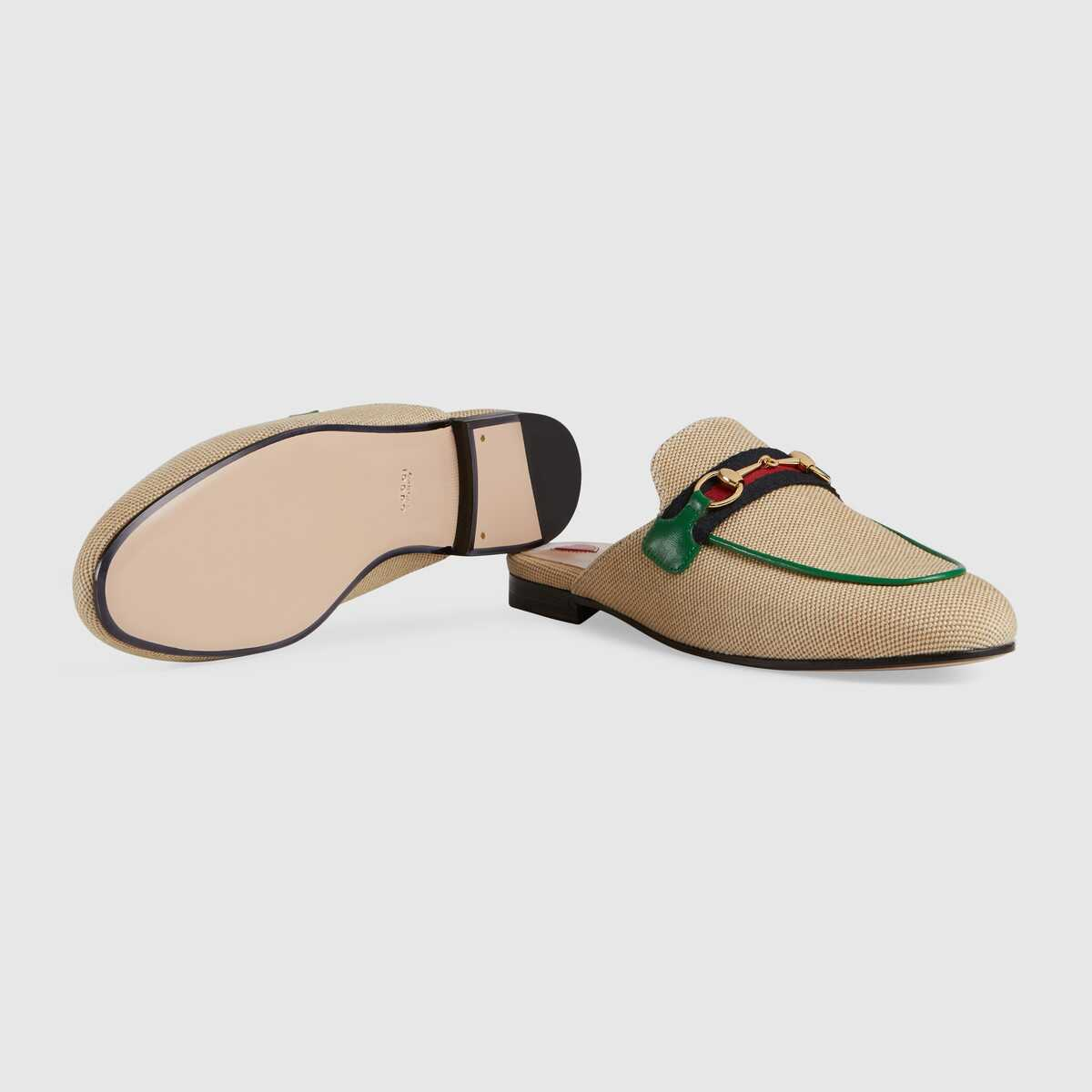 Gucci Online Exclusive womens Princetown canvas slipper GG1520BL-1