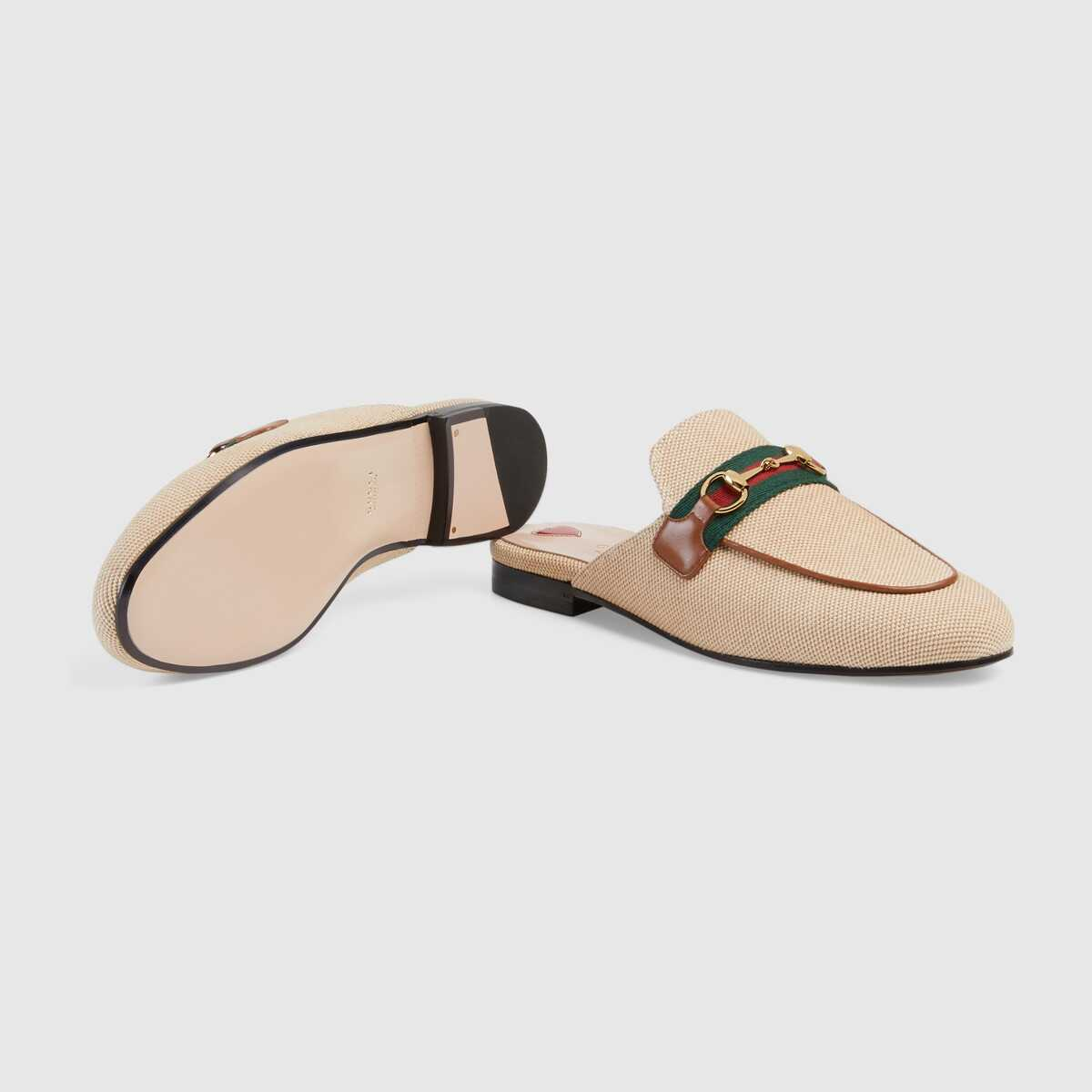 Gucci Online Exclusive womens Princetown canvas slipper GG1520BL-2