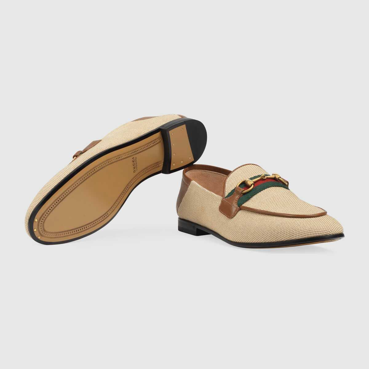 Gucci Womens Horsebit loafer with Web GG1521BL-1