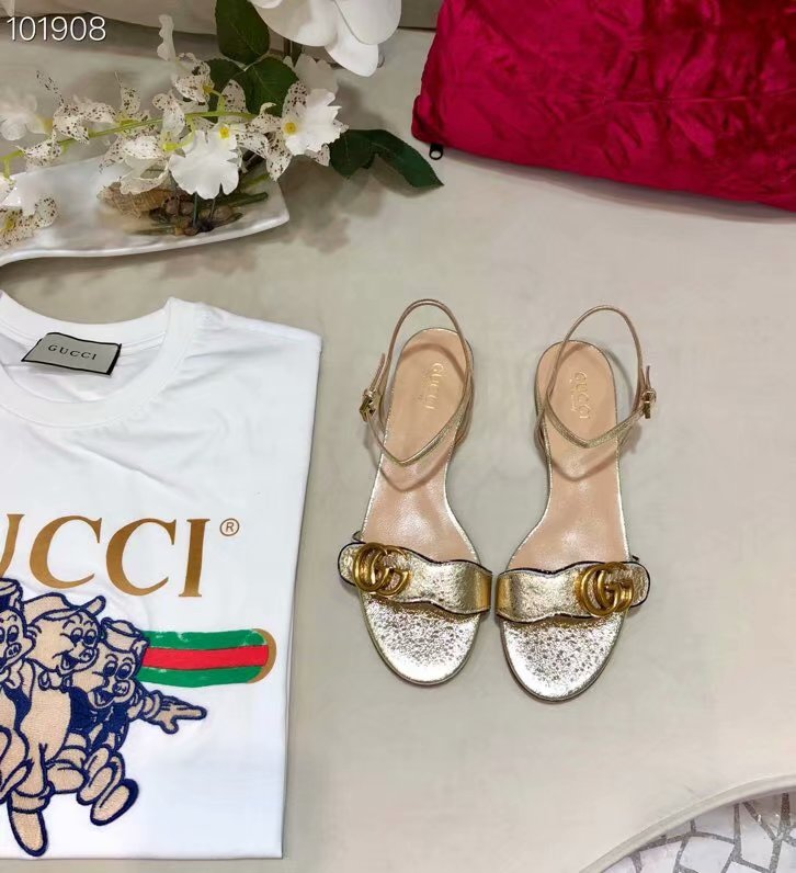 Gucci Leather Double G sandal GG1533BL-3