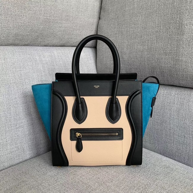 Celine Luggage Boston Tote Bags All Calfskin Leather 189793-8