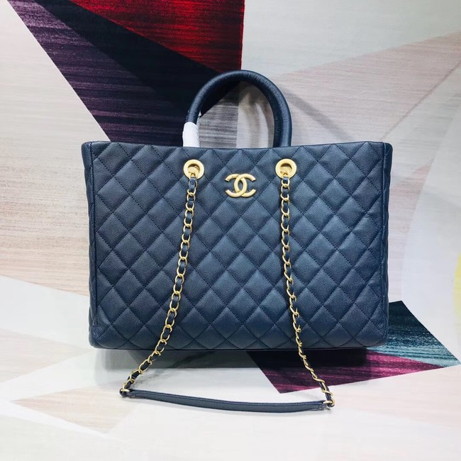 Chanel Original large shopping bag Grained Calfskin A93525 blue