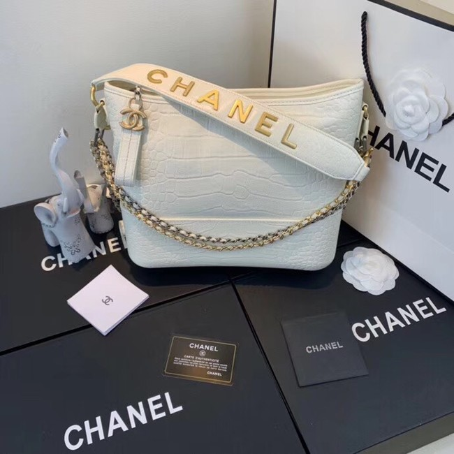 Chanel gabrielle hobo bag A93824 white