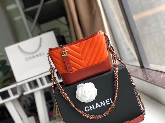 Chanel gabrielle small hobo bag A91810 orange