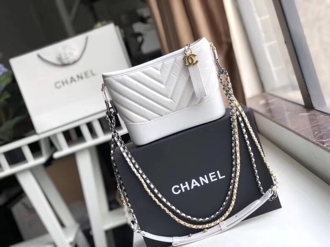 Chanel gabrielle small hobo bag A91810 white