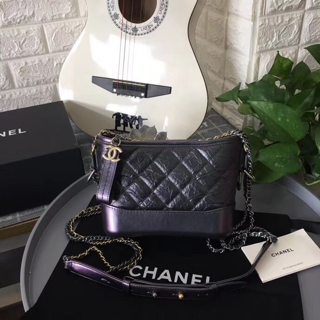 Chanel gabrielle small hobo bag B91810 light black
