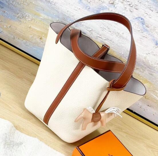 Hermes Picotin Lock 22cm Bags Litchi Leather HPT88 White