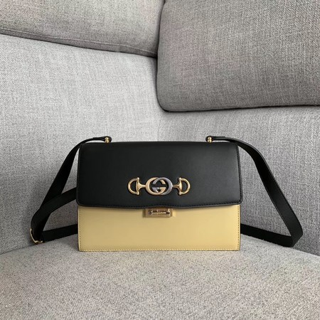 Gucci GG Leather Shoulder Bag A576388 Black&white