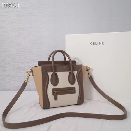CELINE NANO LUGGAGE BAG IN LAMINATED LAMBSKIN 189244-1