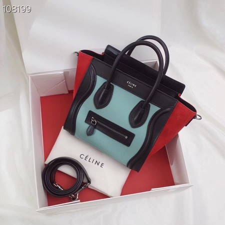 CELINE NANO LUGGAGE BAG IN LAMINATED LAMBSKIN 189244-3