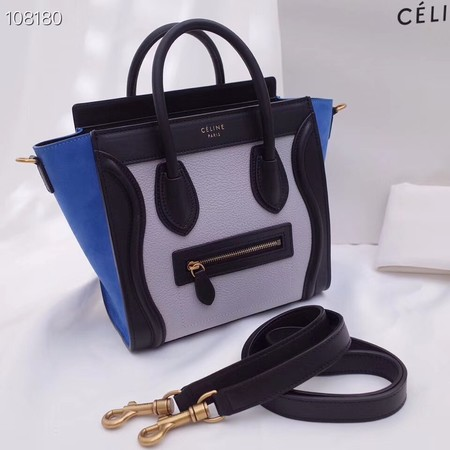 CELINE NANO LUGGAGE BAG IN LAMINATED LAMBSKIN 189244-5