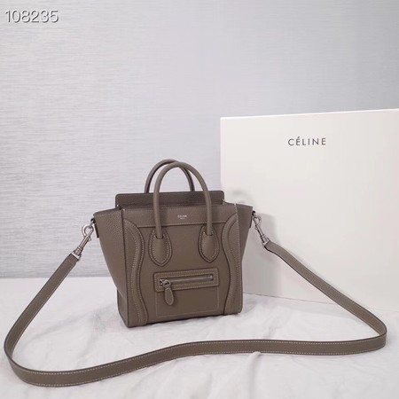 CELINE NANO LUGGAGE BAG IN LAMINATED LAMBSKIN 189244-6