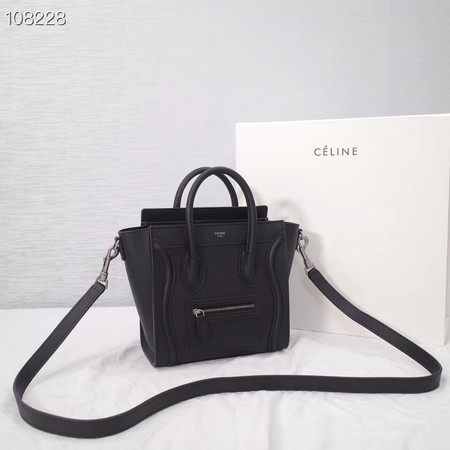 CELINE NANO LUGGAGE BAG IN LAMINATED LAMBSKIN 189244-7
