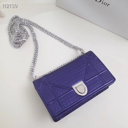 Dior DIORAMA leather Chain bag S0328 blue