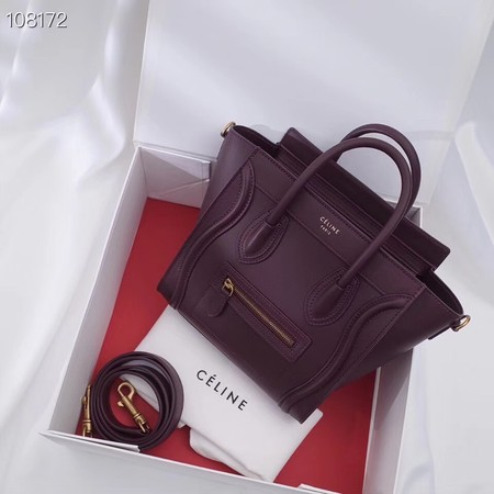 CELINE NANO LUGGAGE BAG IN LAMINATED LAMBSKIN 189244-10