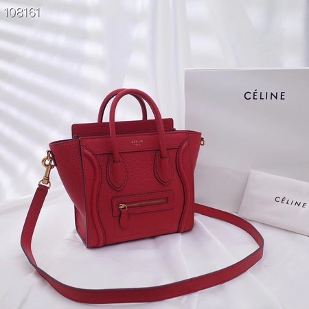 CELINE NANO LUGGAGE BAG IN LAMINATED LAMBSKIN 189244-12