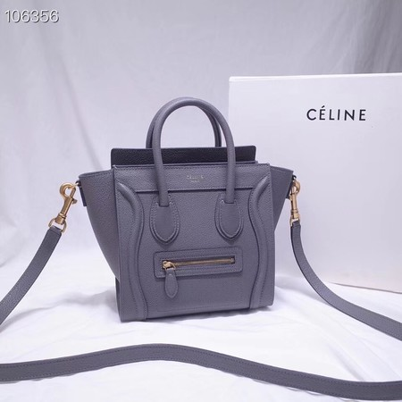 CELINE NANO LUGGAGE BAG IN LAMINATED LAMBSKIN 189244-13