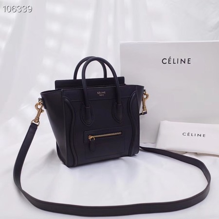 CELINE NANO LUGGAGE BAG IN LAMINATED LAMBSKIN 189244-15