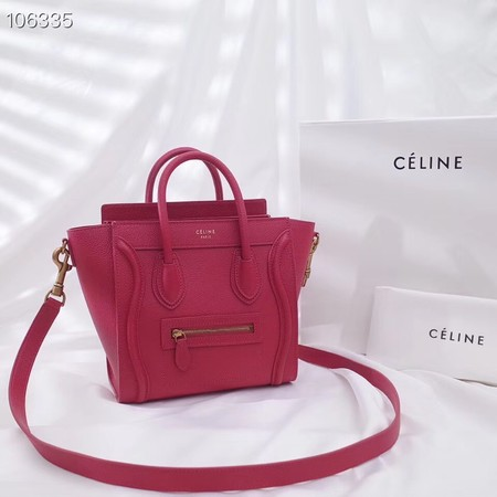 CELINE NANO LUGGAGE BAG IN LAMINATED LAMBSKIN 189244-16