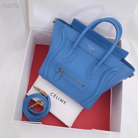 CELINE NANO LUGGAGE BAG IN LAMINATED LAMBSKIN 189244-8