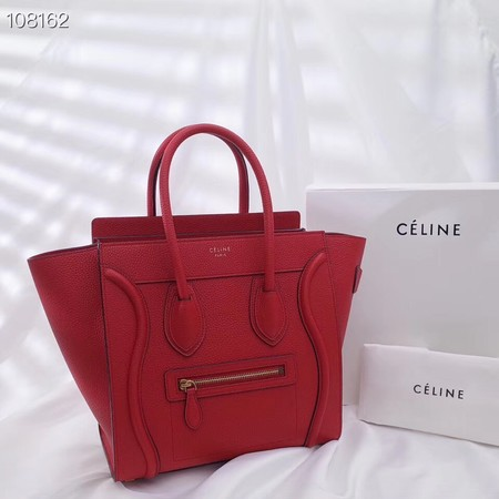 CELINE MICRO LUGGAGE HANDBAG IN LAMINATED LAMBSKIN 167793-11