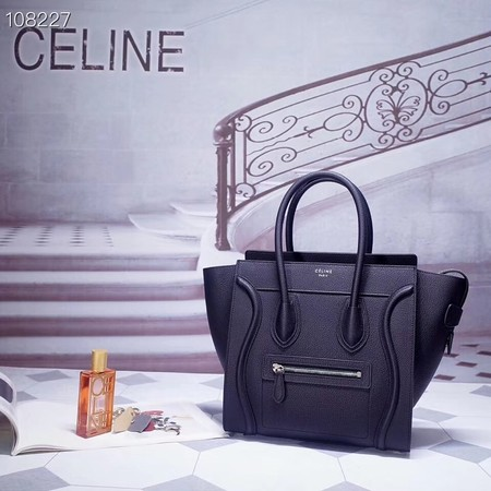 CELINE MICRO LUGGAGE HANDBAG IN LAMINATED LAMBSKIN 167793-7