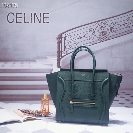 CELINE MICRO LUGGAGE HANDBAG IN LAMINATED LAMBSKIN 167793-8