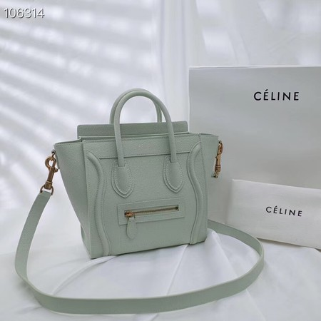 CELINE NANO LUGGAGE BAG IN LAMINATED LAMBSKIN 189244-19