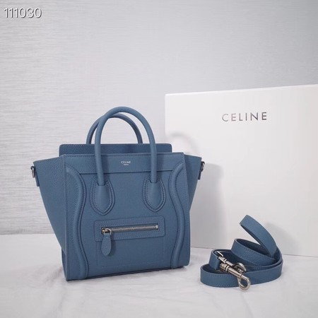 CELINE NANO LUGGAGE BAG IN LAMINATED LAMBSKIN 189244-20