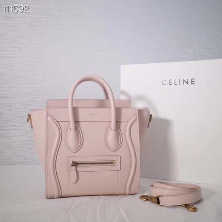 CELINE NANO LUGGAGE BAG IN LAMINATED LAMBSKIN 189244-22