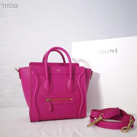CELINE NANO LUGGAGE BAG IN LAMINATED LAMBSKIN 189244-23