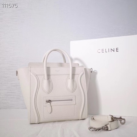 CELINE NANO LUGGAGE BAG IN LAMINATED LAMBSKIN 189244-24