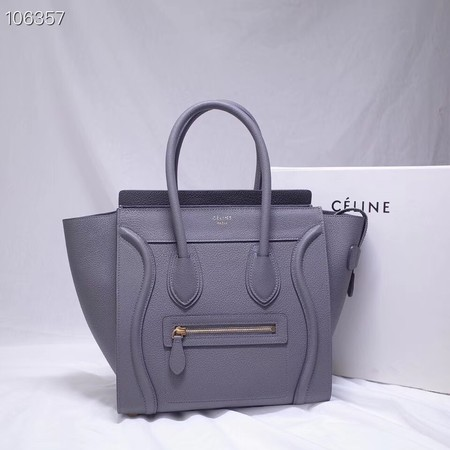 CELINE MICRO LUGGAGE HANDBAG IN LAMINATED LAMBSKIN 167793-13