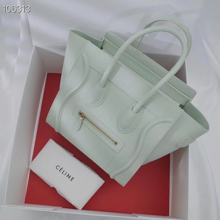 CELINE MICRO LUGGAGE HANDBAG IN LAMINATED LAMBSKIN 167793-20