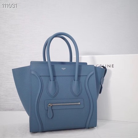 CELINE MICRO LUGGAGE HANDBAG IN LAMINATED LAMBSKIN 167793-22