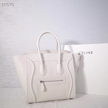 CELINE MICRO LUGGAGE HANDBAG IN LAMINATED LAMBSKIN 167793-25
