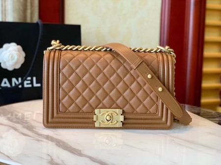 Boy Chanel Flap Bag Original Leather A67086 brown