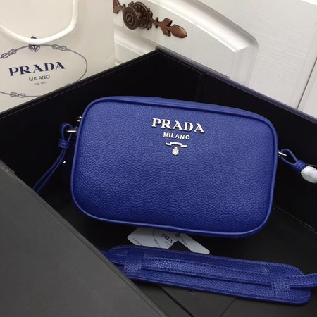 Prada Calf leather shoulder bag 1841 blue
