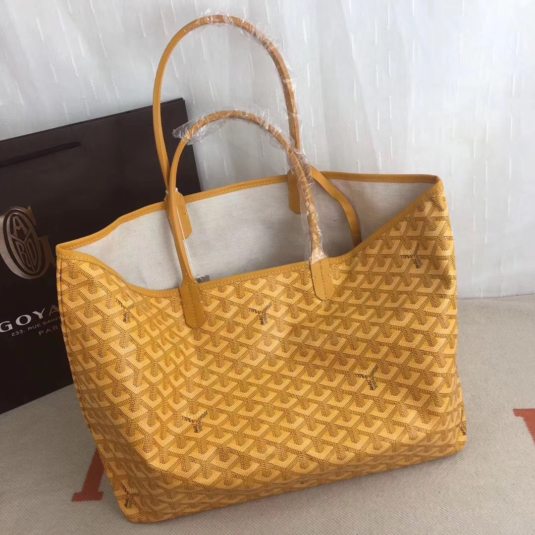 Goyard Y Doodling Calfskin Leather Tote Bag 7902 Yellow