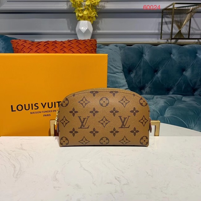 Louis vuitton original Monogram COSMETIC POUCH PM M52030 yellow
