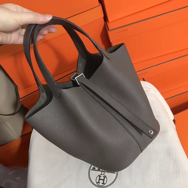 Hermes Picotin Lock PM Bags Original Leather H8688 grey